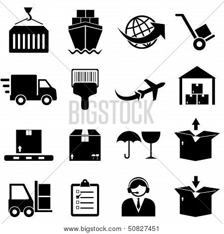 Cargo And Shipping Icons