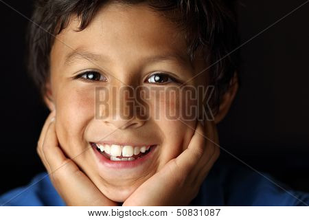 Portrait Of Young Boy - Chiaroscuro Series
