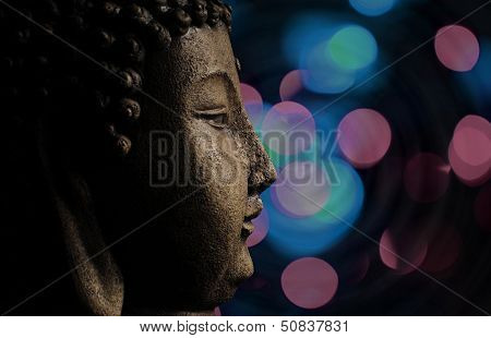 Buddha And Abstract Background