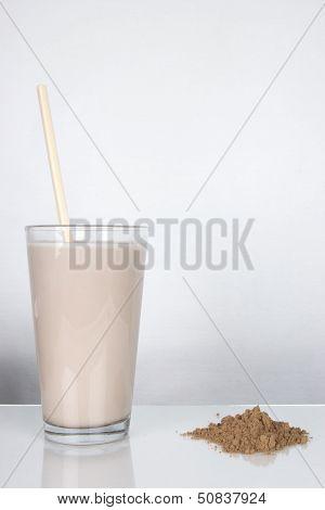 Chocolate Milk With Stirrer And Powder