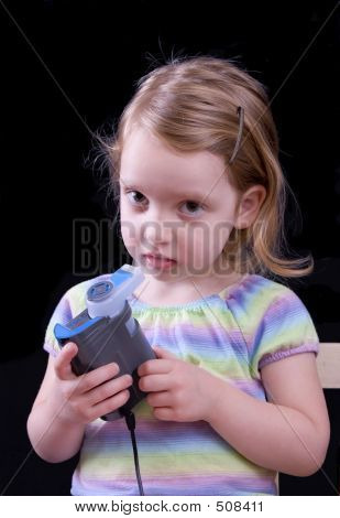 Girl Using Nebulizer