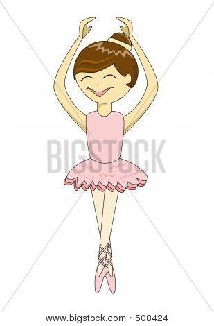 Cute Cartoon Ballerina