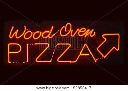 Wood Oven Pizza Sign