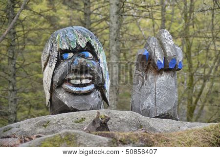 Trol Figure - Bergen, Norway