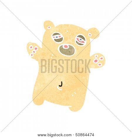 retro cartoon tired little polar bear poster