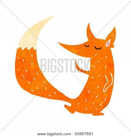 retro cartoon cute fox