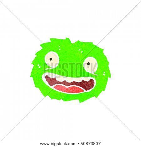retro cartoon furball creature poster