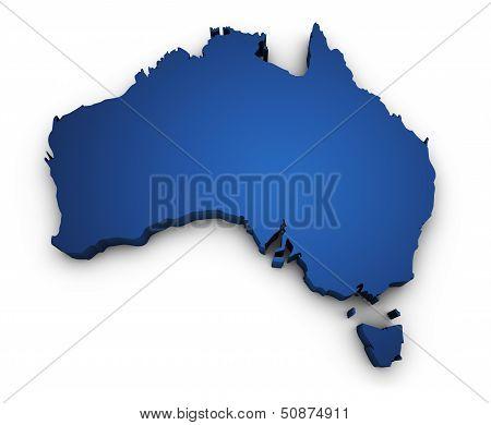 Map Of Australia 3D Shape