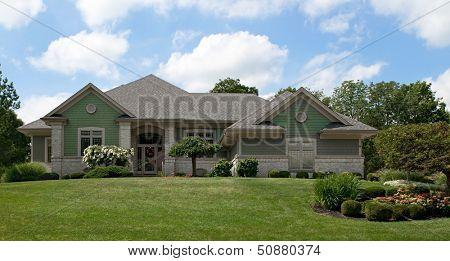 Green Cedar Shake House