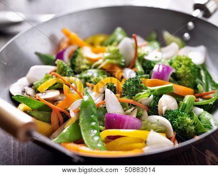 vegetarian wok stir fry