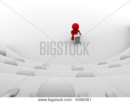 Red Man Making A Speech