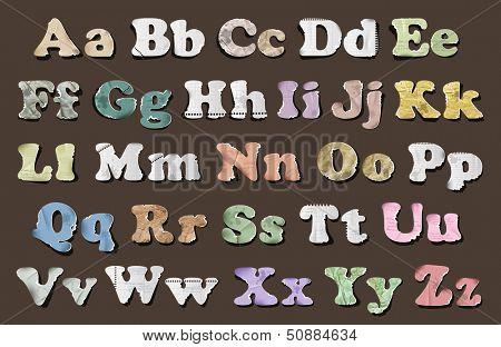 Vector illustration of retro vintage alphabet. Eps10
