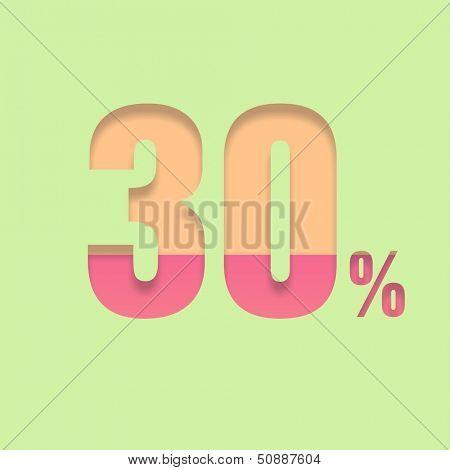 Thirty percent symbol