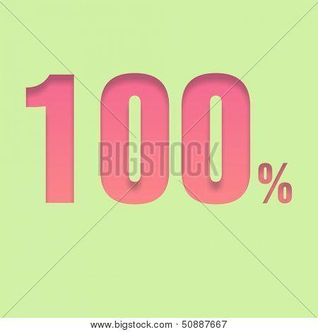 One hundred  percent symbol