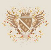 Vintage shield with Fleur-de-lis - vector illustration in EPS format poster