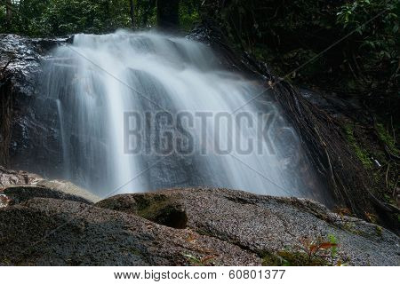 Waterfall In Sungai Tue Malay Reservation