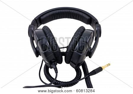 Professional Headphones Isolated On White