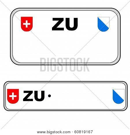 Zurich plate number, Switzerland