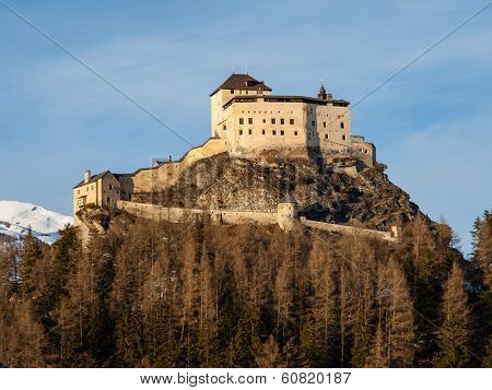 Tarasp Castle Near Scuol (switzerland)