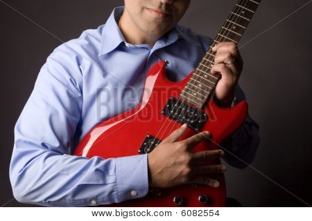 Electric Guitar and Musician