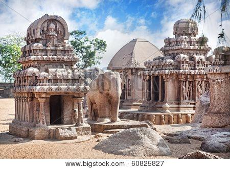 Five Rathas In Mamallapuram