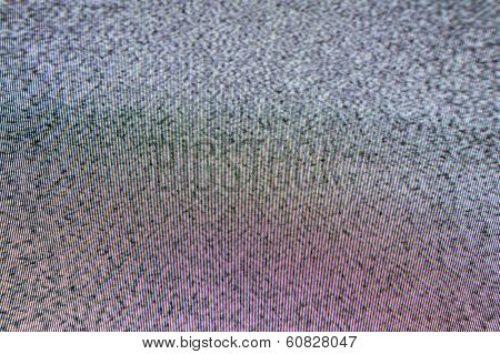 Television Screen With Static Noise