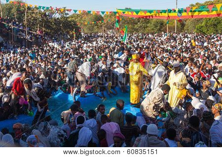 Timkat Festival At Lalibela In Ethiopia
