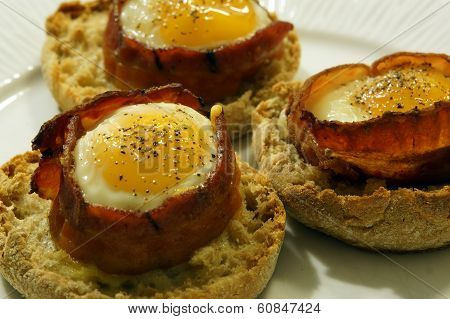 Bacon, Egg, And Cheese On English Muffin