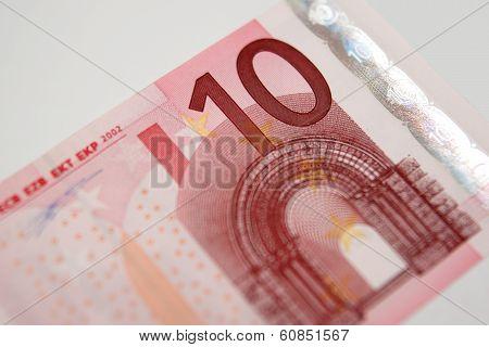 A Ten Euro Bill From The European Union
