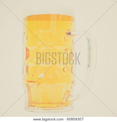 Retro Look German Beer Glass