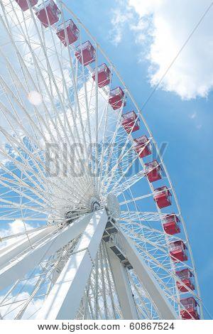 Ferris Wheel In Navy Pier, Chicago