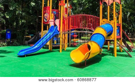 Colorful Playground for Children in The Park