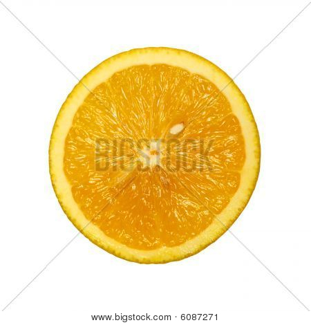 Slice of orange isolated