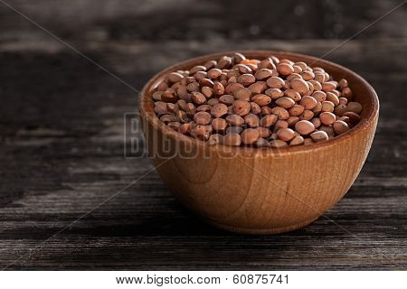 Sprouting Seeds In A Wooden Bowl