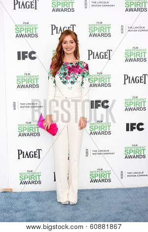 LOS ANGELES - MAR 1:  Ahna O'Reilly at the Film Independent Spirit Awards at Tent on the Beach on March 1, 2014 in Santa Monica, CA