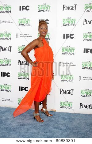 LOS ANGELES - MAR 1:  Yolanda Ross at the Film Independent Spirit Awards at Tent on the Beach on March 1, 2014 in Santa Monica, CA