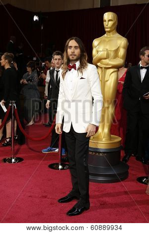 LOS ANGELES - MAR 2:  Jared Leto at the 86th Academy Awards at Dolby Theater, Hollywood & Highland on March 2, 2014 in Los Angeles, CA