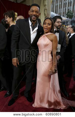 LOS ANGELES - MAR 2:  Will Smith, Jada Pinkett Smith at the 86th Academy Awards at Dolby Theater, Hollywood & Highland on March 2, 2014 in Los Angeles, CA