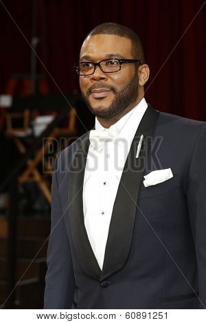 LOS ANGELES - MAR 2:  Tyler Perry at the 86th Academy Awards at Dolby Theater, Hollywood & Highland on March 2, 2014 in Los Angeles, CA