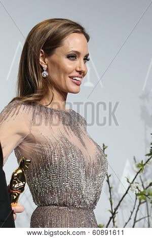 LOS ANGELES - MAR 2:  Angelina Jolie at the 86th Academy Awards at Dolby Theater, Hollywood & Highland on March 2, 2014 in Los Angeles, CA