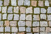 stone block pavement street texture close up shoot poster