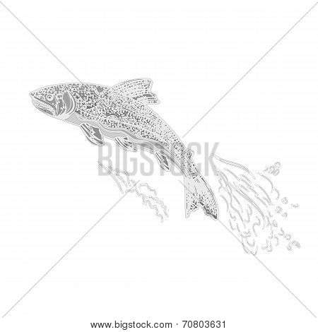 Trout As Vintage Engraved Vector