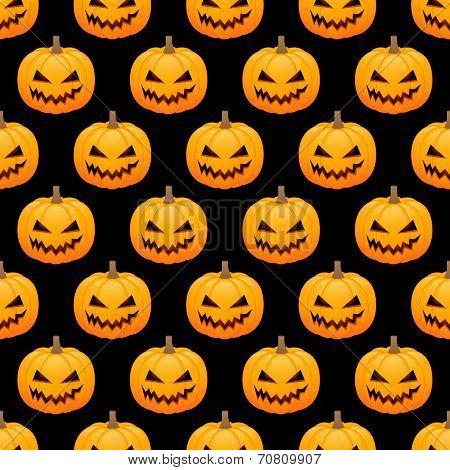 Halloween Pumpkins Seamless Background