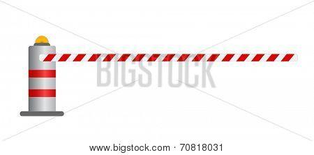 Road barrier vector illustration , vector eps10