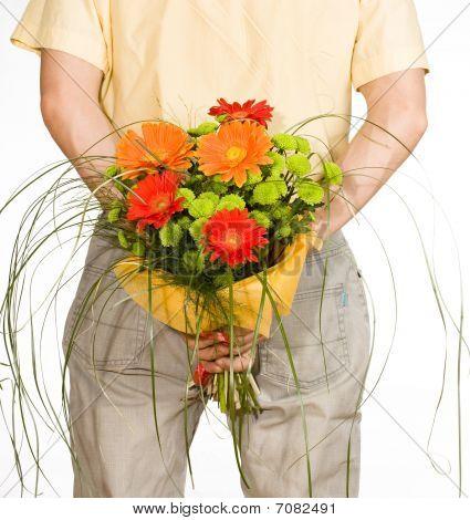 Man Keeps Bouquet