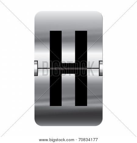 Silver Flipboard Letter - Departure Board - H