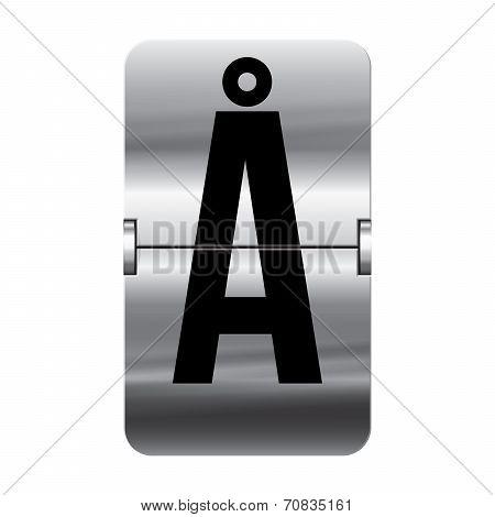 Silver Flipboard Letter - Departure Board - å