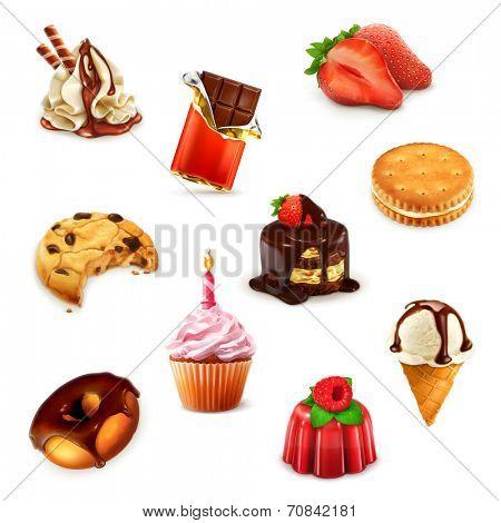 Confectionery, vector set 1