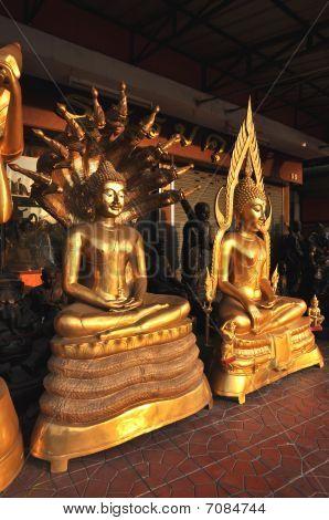 Buddha Group Various Brass