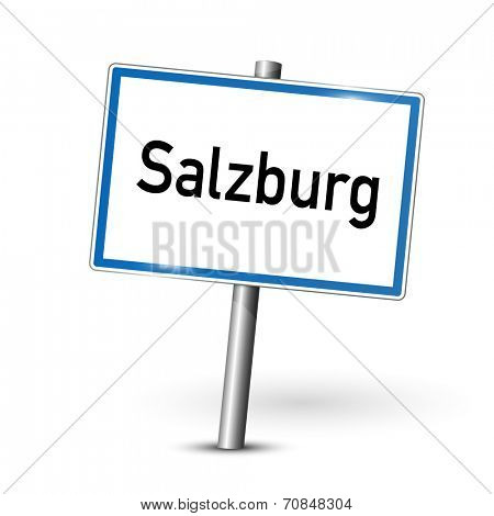 City sign - Salzburg - Austria
